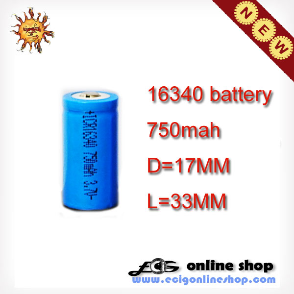 ICR16340 battery 750mah
