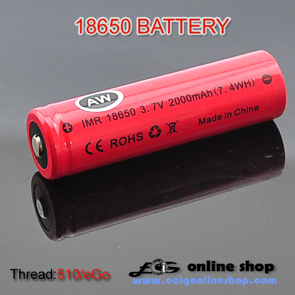 AW 18650 battery 2000mAh FOR eCig MOD