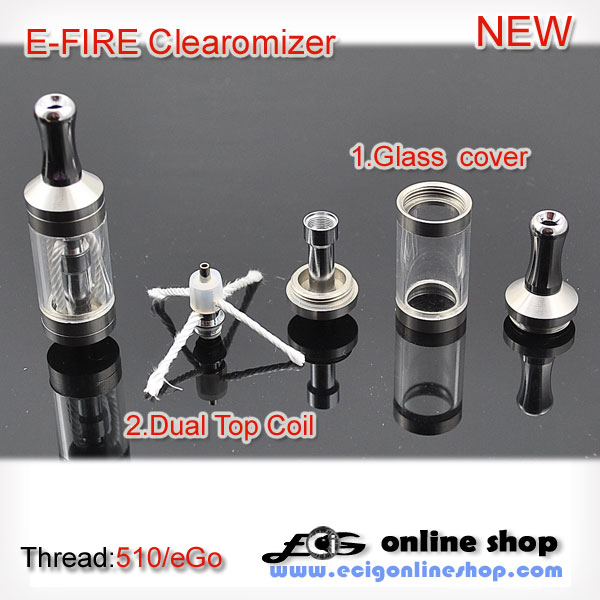 V-SEN Glass Clearomizer dual coil for Efire