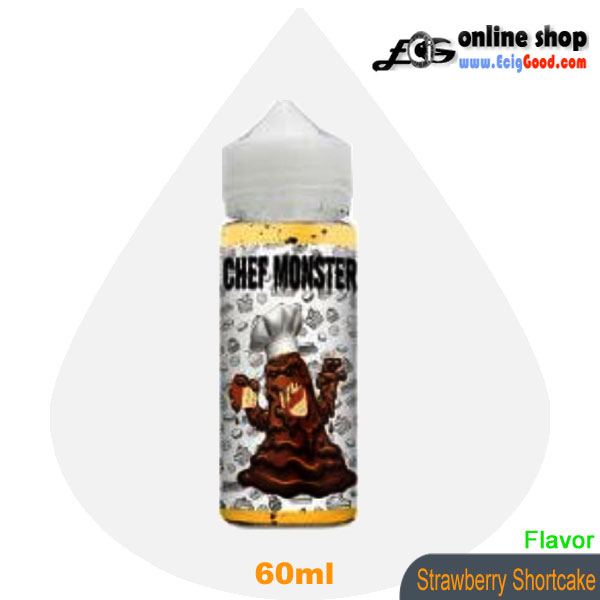Chef Monster E-Juice vaper e-liquid-Strawberry Shortcake 60ml