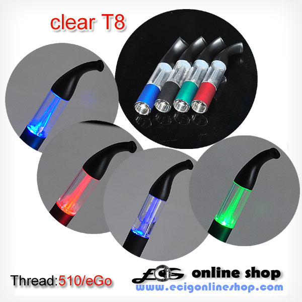new design T8 atomizer with light display free shipping