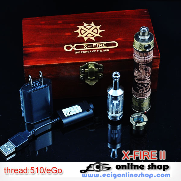 E cigarette X-FIRE 2 wooden VV kits