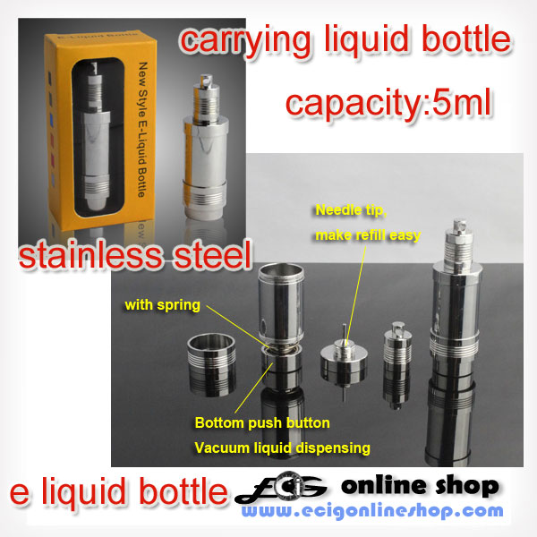 stainless steel carrying liquid bottle 5ML free shipping