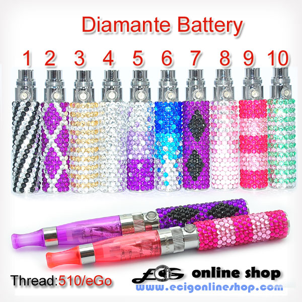 ego diamante battery 650mah eGo thread free shipping