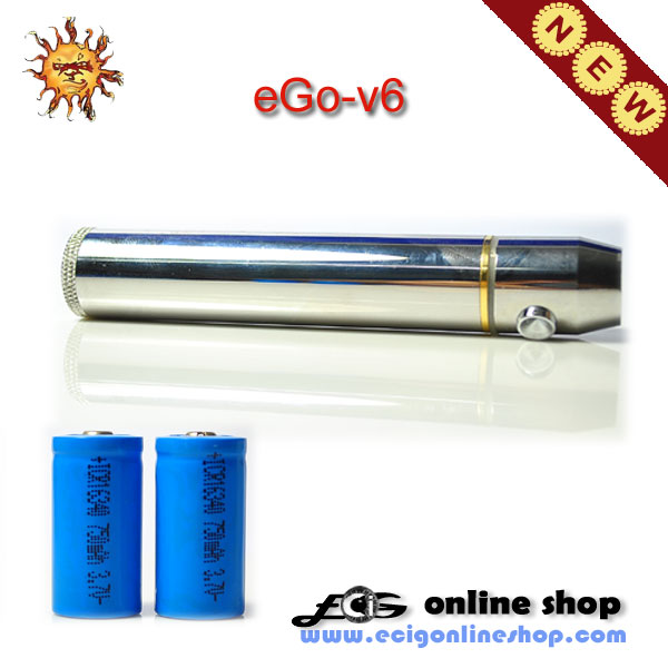 eGo-V6 variable voltage body with two 750mah battery free shippi