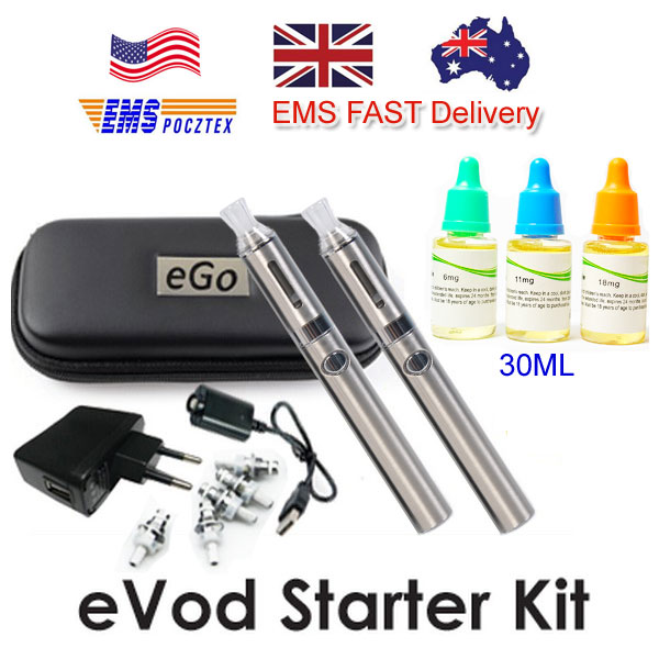EVOD STARTER KIT AND 3PC 30ML E-LQIUID FAST DELIVERY