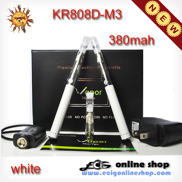 Ecigarette KR808D-M3 kit NEW 808 e cig white color