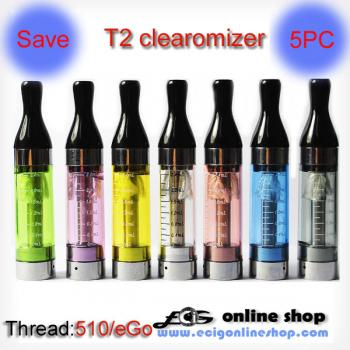 Kanger T2 clearomizer  (detachable coil) for ego battery X 5