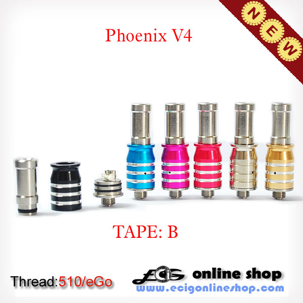 phoenix v4 atomizer TAPE B for eGo battery free shipping